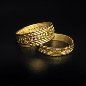 14k yellow solid gold wedding Ring for man.